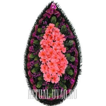 Живописный, красочный венок на похороны