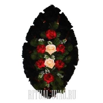 Доступный по цене похоронный венок