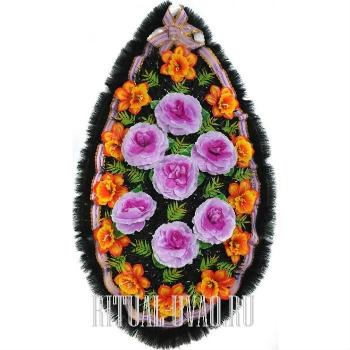 Глубокий, цветастый венок на похороны