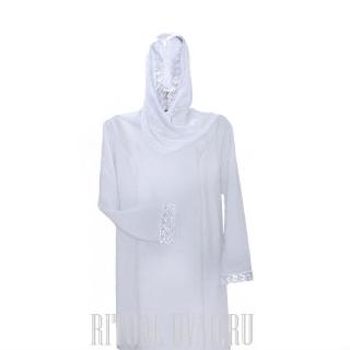 Белый похоронный комплект. Платье+шарф