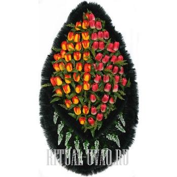"""Похоронный венок """"Бархатные Тюльпаны"""""""