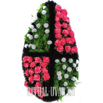 Символический похоронный венок на похороны