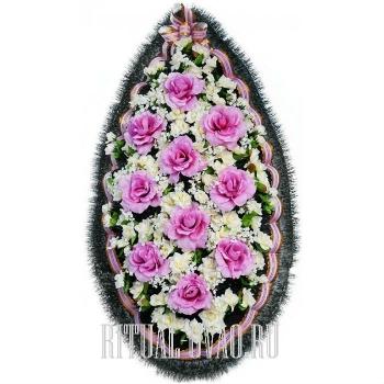 Славный похоронный венок на могилу