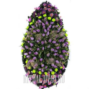 """Шикарный венок """"Фиолетовые Тюльпаны"""""""