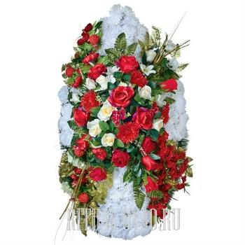 Изумительный элитный венок для похорон или в памятный день