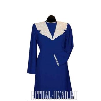 Платье на похороны василькового цвета