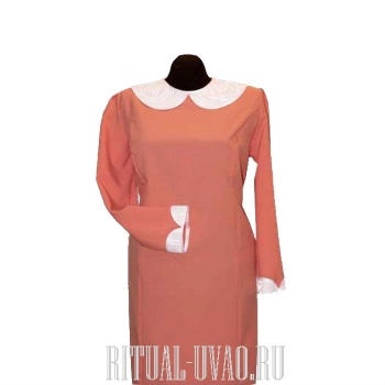 Платье, с церковным воротником