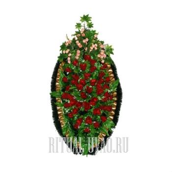 Ритуальный венок из мелких цветов