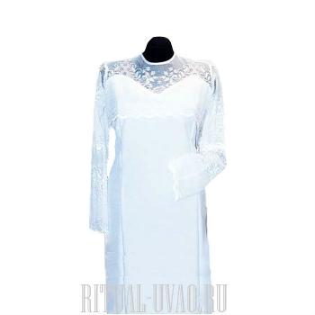 Белое платье на похороны с кружевом