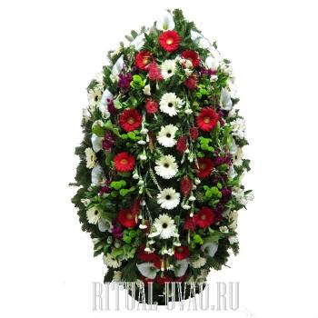 Заказать венок с живыми цветами