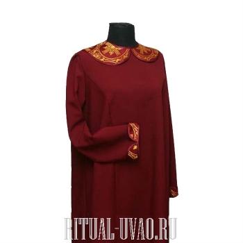 Платье, воротник и манжета - парча