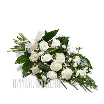 Букет на похороны для молодой девушки