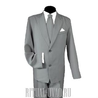 Мужской комплект похоронный светло-серый