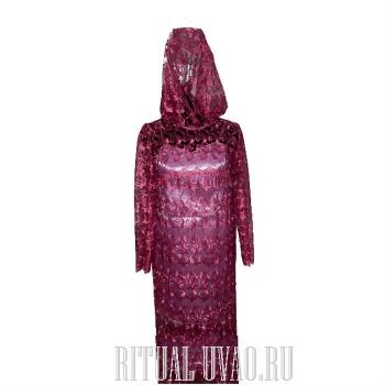 """Комплект. Платье """"Бордо"""" гипюр с сорочкой"""