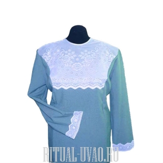 Платье с кокеткой и манжетами