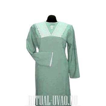 Платье с вышитым крестиком на груди