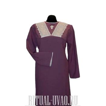 Похоронное платье с воротником шитье