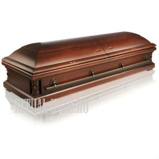 """Гроб """"Астра 12"""" Достойный двухкрышечный гроб"""