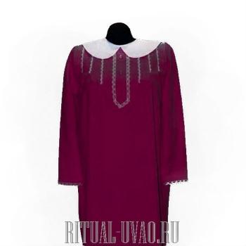 Платье для похорон женщины Бордо