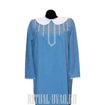 Похоронное платье с белым воротником