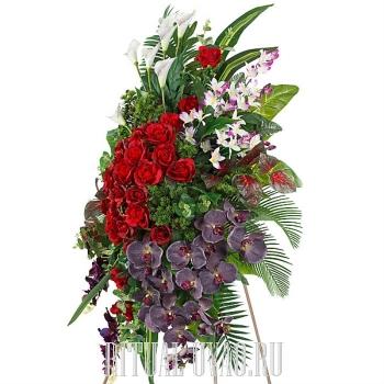 Памятная композиция с Розой и Орхидеей