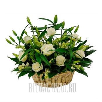 Корзины - Розы, Лилии