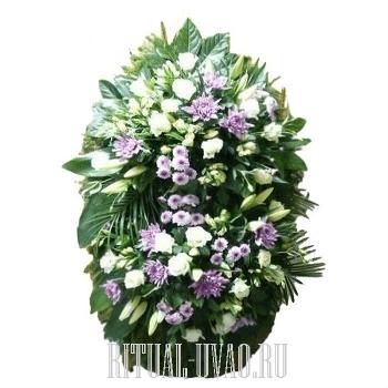 Красивый живой венок для похорон