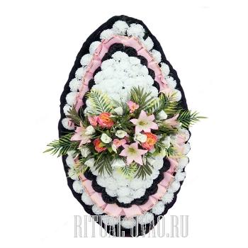 Похоронный венок шаблонный В01-41