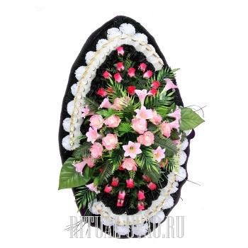 Похоронный венок эталонный В01-42