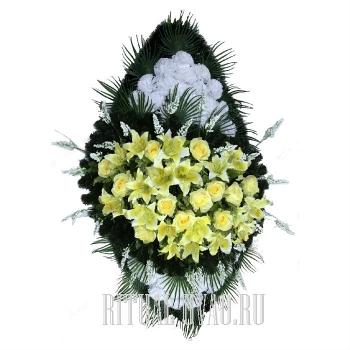 Венок на могилку обычный В01-45
