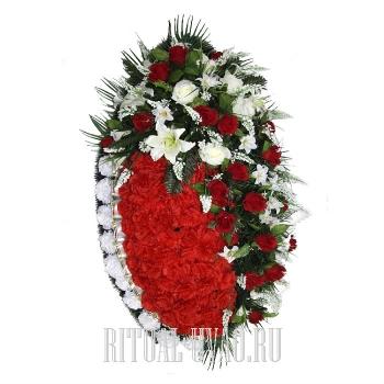 Похоронный венок стандарт классика В01-47