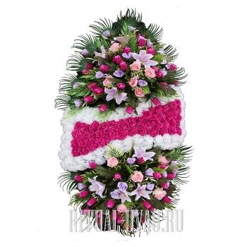 Похоронный венок стандартный В01-37