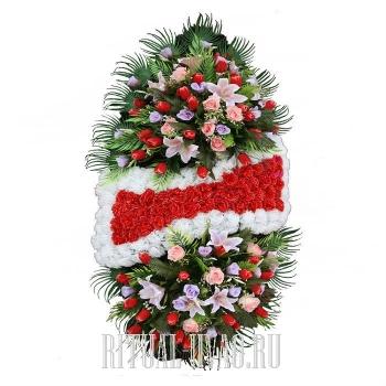 Похоронный венок серии стандарт В01-38