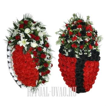 Два венка со скидкой с красными Гвоздиками