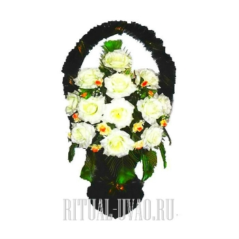 """Корзина из искусственных цветов недорого """"Белая"""""""