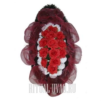 """Траурный венок на похороны """"Роза"""" В01-16"""