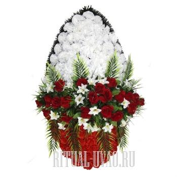 """Траурный венок на похороны """"Дуновение"""" В01-19"""