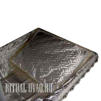 Подушка в гроб Атласная Спандекс с золотой оборкой