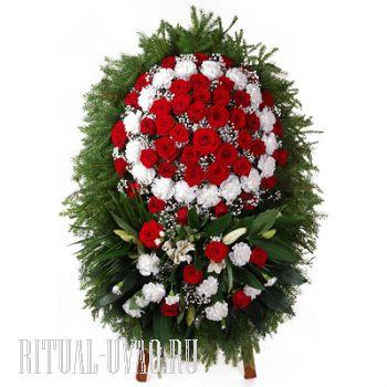 Венок похоронный - натуральные цветы