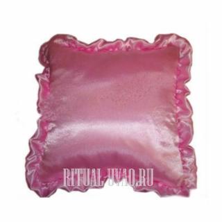 Подушка в гроб Атласная Розовая