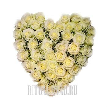 Сердце для любимой на похороны
