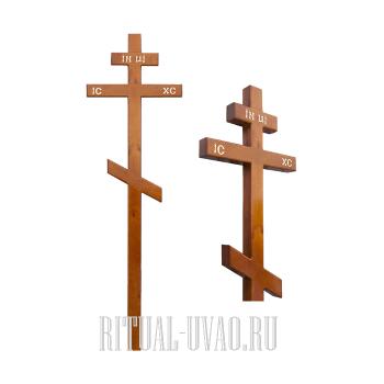 Замена двух сосновых крестов в ограде