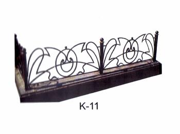 Ограда кованная с художественным рисунком