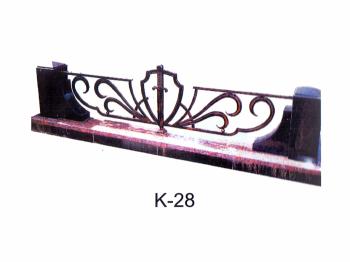 Кованная ограда с мечем