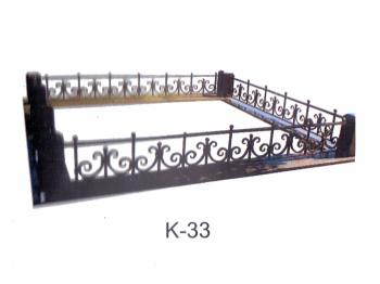 Кованная ограда на могилку низкая