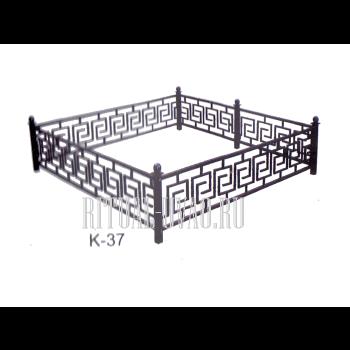 Качественная ограда на могилу - ковка