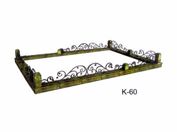 Ограда низкая  - гранит Змеевик