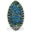 Благородный густо-синий похоронный венок