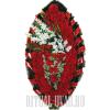 Примечательный темно-красный венок с белыми Гладиолусами