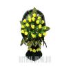 """Искусственная корзина на могилу """"Желтые Розы"""""""